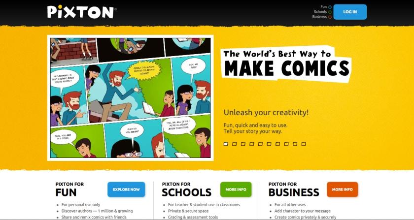 Pixton.com er en av flere verltøy for å lage tegneserier.